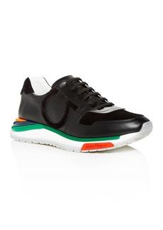 Salvatore Ferragamo Men's Brooklyn Leather & Suede Lace Up Sneakers