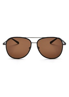Salvatore Ferragamo Men's Brow Bar Aviator Sunglasses, 60mm