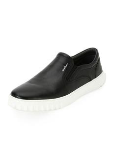 Ferragamo Men's Calfskin Leather Skate Shoe