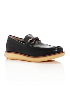 Salvatore Ferragamo Men's Carmine Leather Moc Toe Loafers