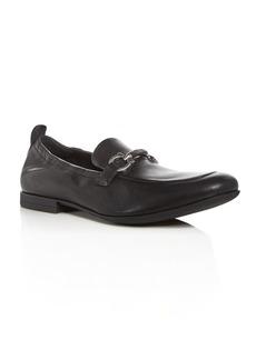 Salvatore Ferragamo Men's Celso Leather Apron Toe Loafers