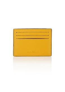 Salvatore Ferragamo Men's Chantilly Leather Card Case - Yellow