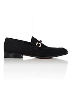 Salvatore Ferragamo Men's Cross Suede Loafers