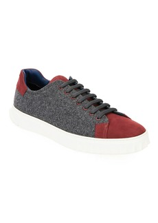 Salvatore Ferragamo Men's Cube 11 Wool Low-Top Sneakers