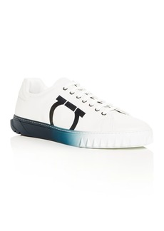Salvatore Ferragamo Men's Cube Low-Top Sneakers