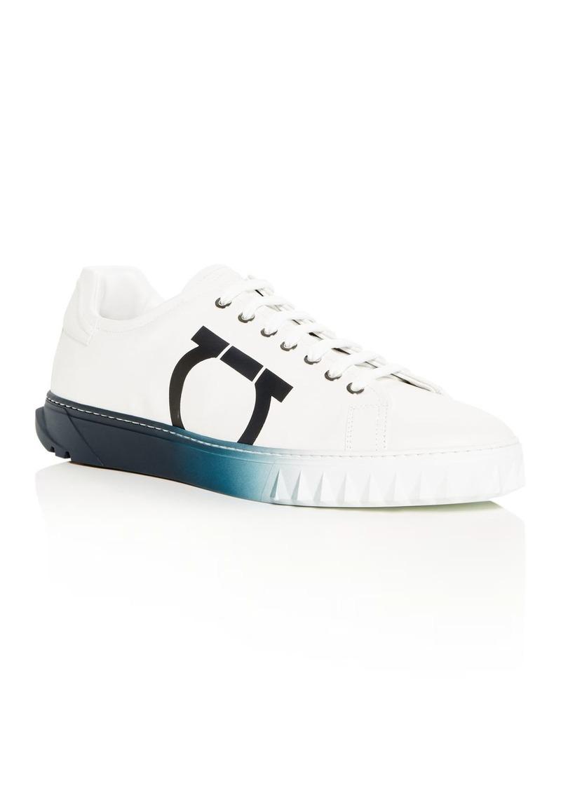 Salvatore Ferragamo Men's Cube Low-Top Sneakers
