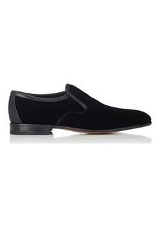 Salvatore Ferragamo Men's Delroy Velvet Venetian Loafers