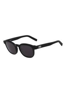Ferragamo Men's Doppio Gancio Acetate Schoolboy Sunglasses