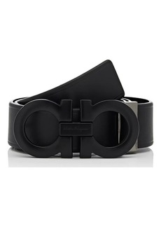 Salvatore Ferragamo Men's Double Gancini-Buckle Leather Belt