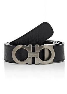 Salvatore Ferragamo Men's Double Gancini-Buckle Reversible Leather Belt