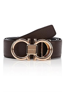 Salvatore Ferragamo Men's Double-Gancini-Buckle Reversible Leather Belt