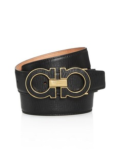 Salvatore Ferragamo Men's Double Gancini Leather Belt