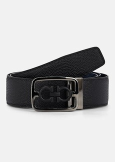 Salvatore Ferragamo Men's Double Gancini Reversible Leather Belt