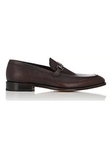 Salvatore Ferragamo Men's Fenice Burnished Leather Loafers