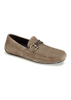 Salvatore Ferragamo Men's Front 4 Suede Drivers with Braided Detail
