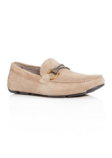 Salvatore Ferragamo Men's Front Suede Moc-Toe Drivers