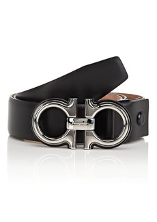 Salvatore Ferragamo Men's Gancini-Buckle Leather Belt