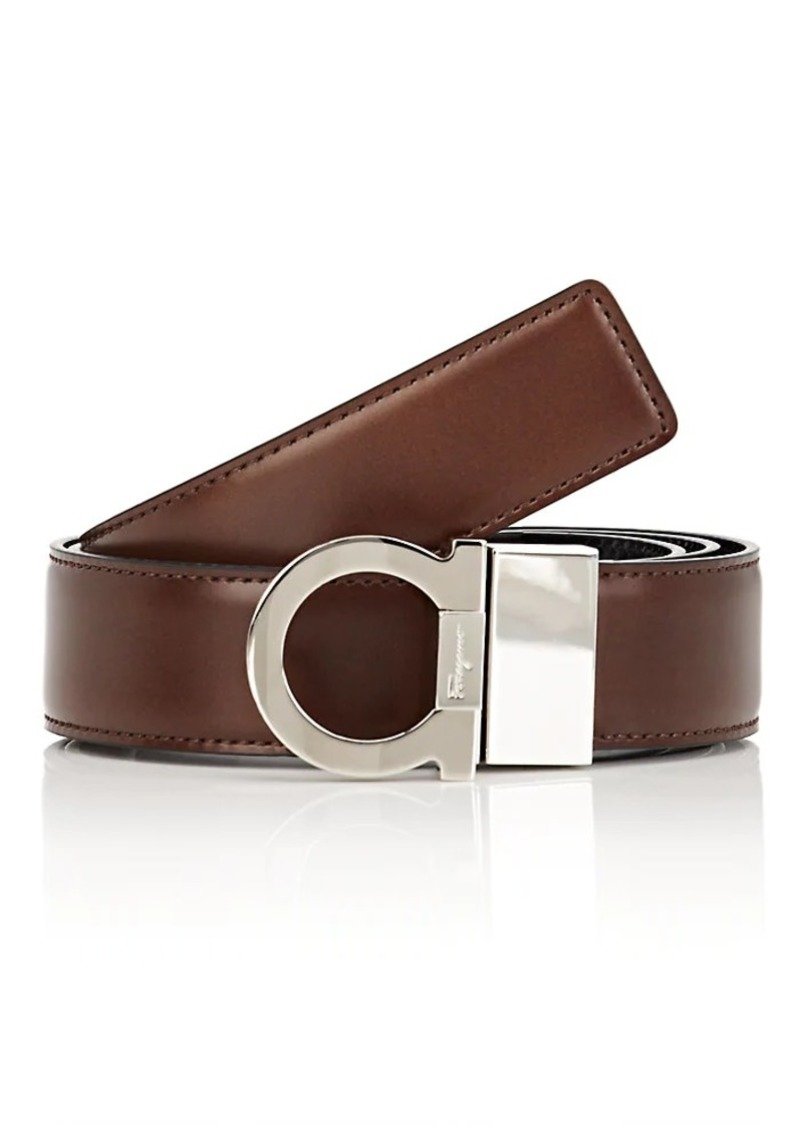 Salvatore Ferragamo Men's Gancini-Buckle Reversible Leather Belt