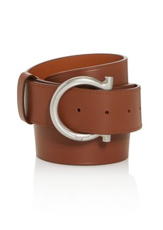 Salvatore Ferragamo Men's Gancini D-Ring Buckle Leather Belt