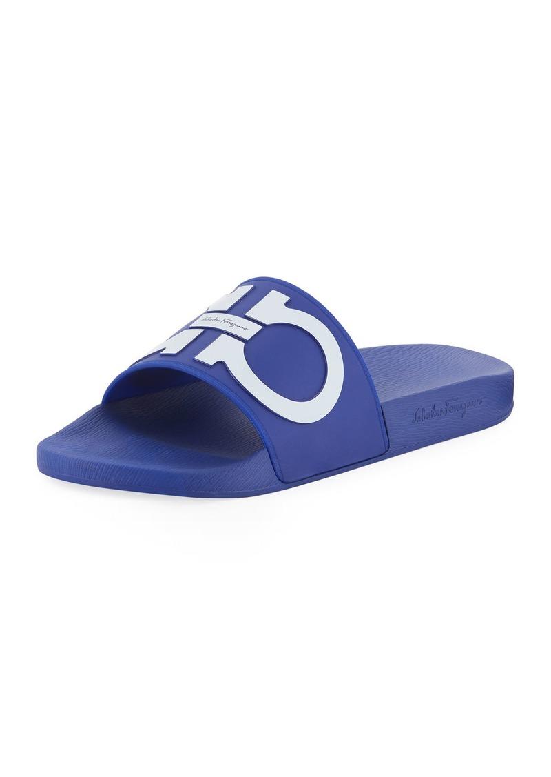 d76663f57d53a0 Ferragamo Salvatore Ferragamo Men's Gancini Pool Slide Sandal Now ...