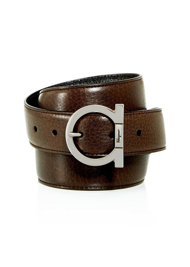 Salvatore Ferragamo Men's Gancini Reversible Leather Belt