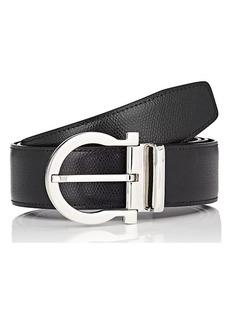 Salvatore Ferragamo Men's Gancio-Buckle Reversible Grained Leather Belt