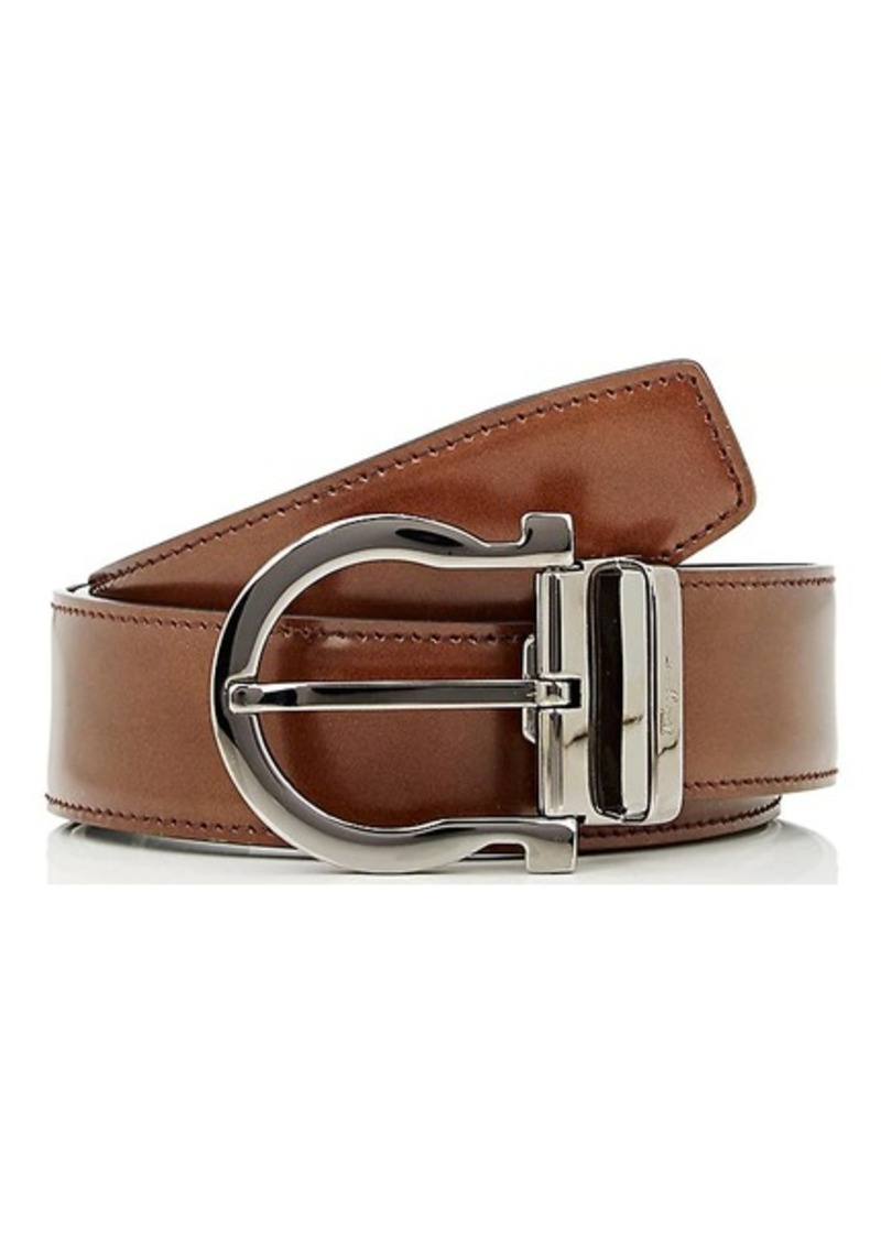 Salvatore Men's Gancio-Buckle Reversible Leather Belt