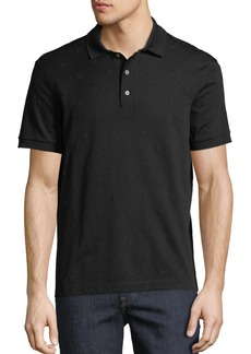 Ferragamo Men's Gancio-Embroidered Polo Shirt