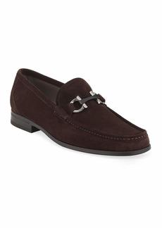 Salvatore Ferragamo Men's Grandioso Suede Loafers