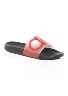 Salvatore Ferragamo Men's Groove 6 Gancini Translucent Slide Sandals - 100% Exclusive