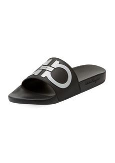 Ferragamo Men's Groove Gancini Slide Sandal