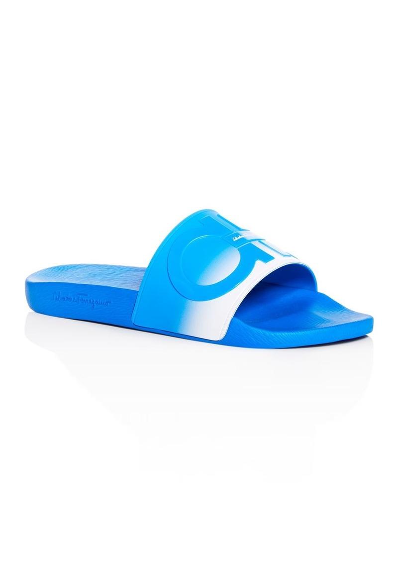 Salvatore Ferragamo Men's Groove Slide Sandals - 100% Exclusive
