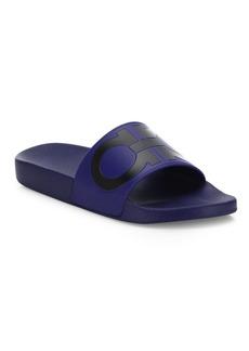 Ferragamo Men's Groove Slide Sandals