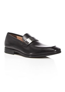 Salvatore Ferragamo Men's Leather Apron Toe Loafers