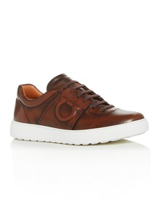 Salvatore Ferragamo Men's Cult 6 Leather Low-Top Sneakers