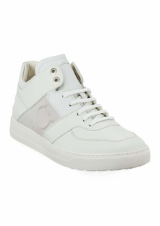 Salvatore Ferragamo Men's Leather Mid-Top Sneakers