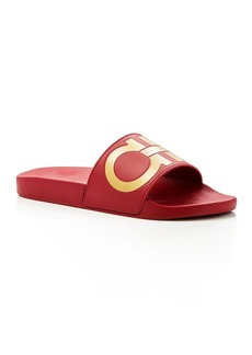 Salvatore Ferragamo Men's Groove 2 Original Double Gancini Slide Sandals