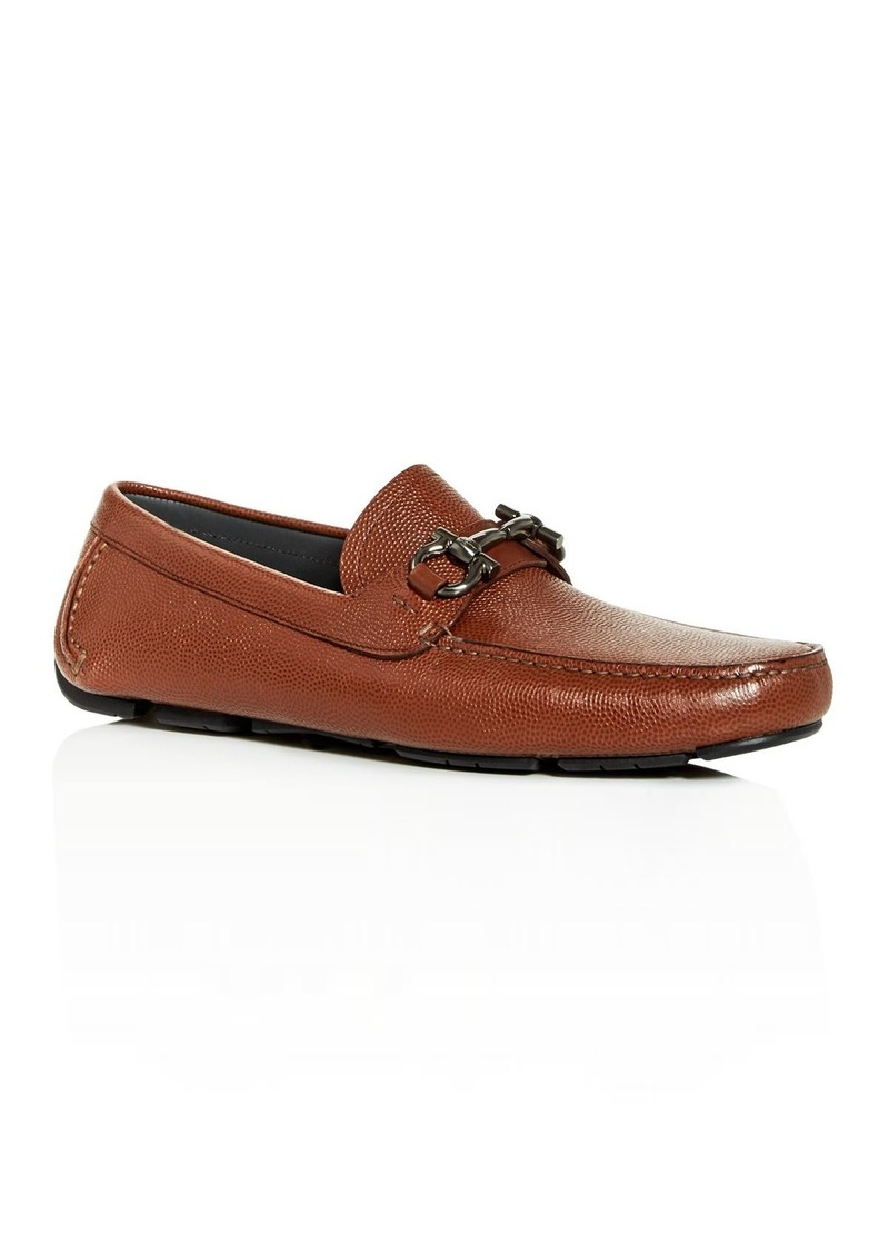 Salvatore Ferragamo Men's Parigi Leather Moc-Toe Drivers