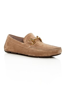 Salvatore Ferragamo Men's Parigi Suede Moc Toe Drivers