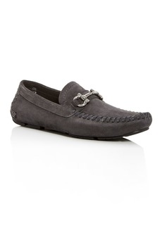 Salvatore Ferragamo Men's Parigi Suede Moc-Toe Drivers