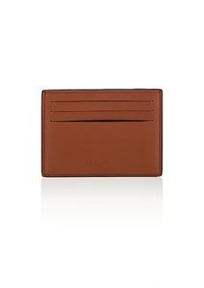 Salvatore Ferragamo Men's Radica Leather Card Case - Brown
