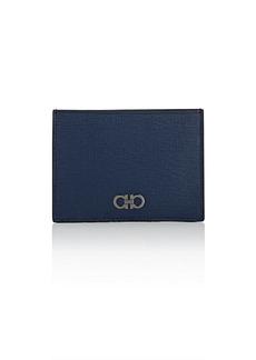 Salvatore Ferragamo Men's Revival Leather Card Case - Navy