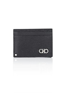 Salvatore Ferragamo Men's Revival Leather Card Case - Black