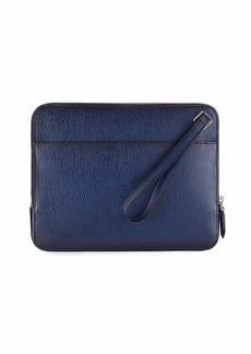 Ferragamo Men's Revival Leather Clutch Bag/Travel Case