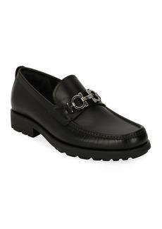 Salvatore Ferragamo Men's Suede Lug-Sole Loafer  Black