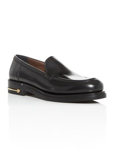 Salvatore Ferragamo Men's Teeth Leather Apron-Toe Loafers