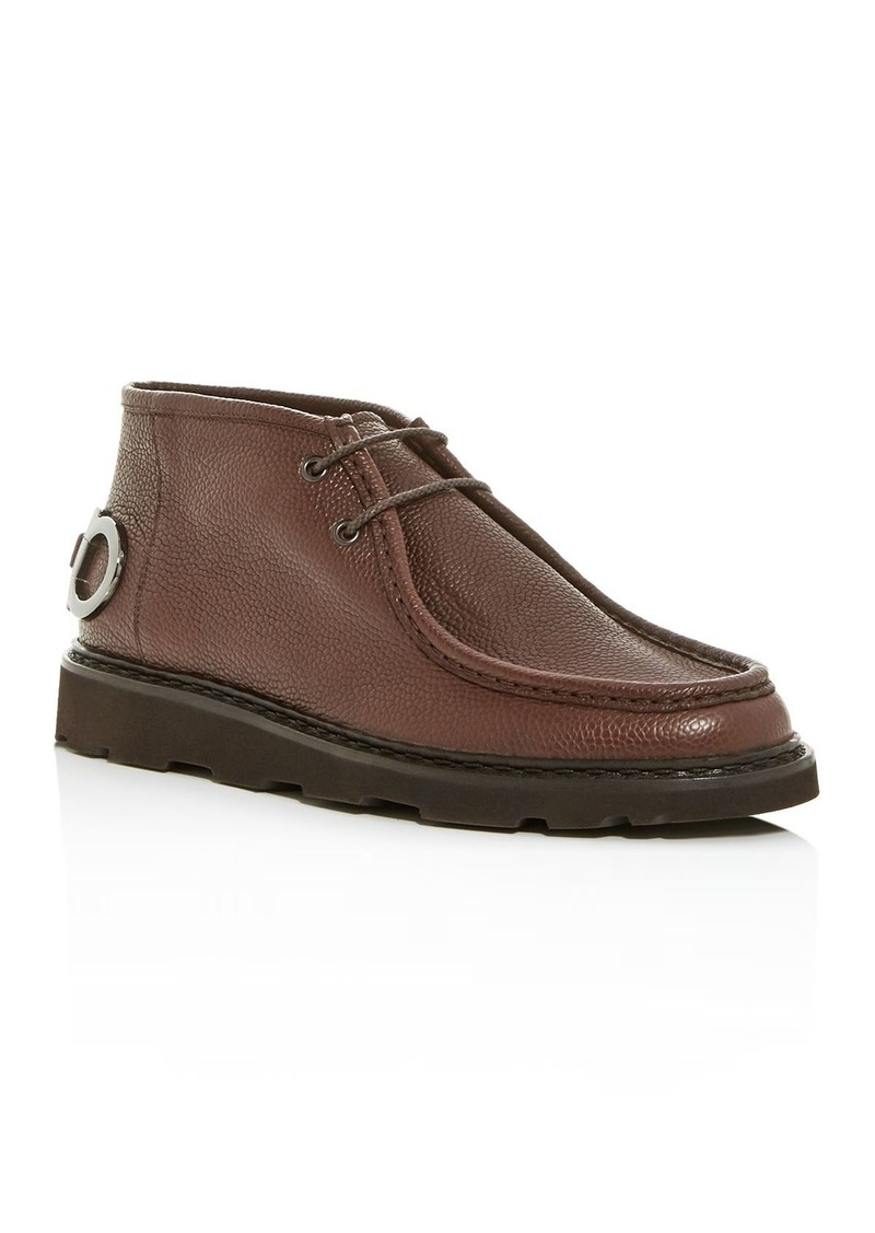 Salvatore Ferragamo Men's Terry Leather Chukka Boots
