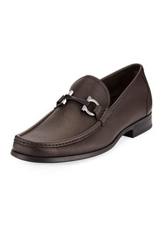 Salvatore Ferragamo Men's Textured Calfskin Gancini Loafer