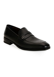Salvatore Ferragamo Men's Tito Textured Leather Penny Loafers