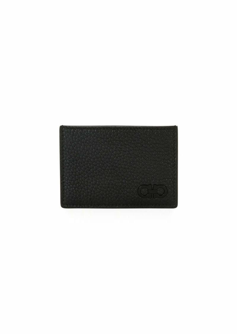 9b40c0d2eba Ferragamo Salvatore Ferragamo Men s Tonal Gancini Leather Card Case ...